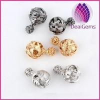 2015 Fashion alloy double ball stud earring