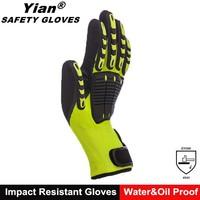 heavy duty impact shock absorbing gloves