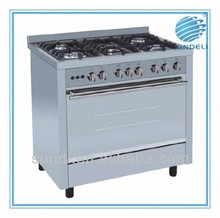 2015 hot sale 90*60cm stainless steel body Cooktop, FFD safety device freestanding cooking range, Thermostat for gas oven