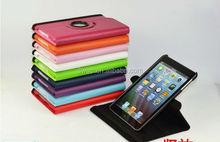 Hot sale 360 rotating leather cases for ipad mini, for ipad mini leather cases with stand
