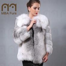 Genuine Wholehide Fox Fur jacket, Fur coat, Fashion Outerwear