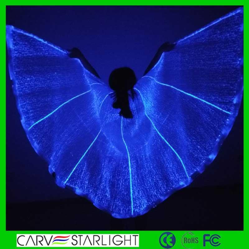 Suprimentos venda quente do partido led iluminado grande asas de anjo traje