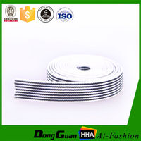 High Quality Customzied Striped Polyester Twill Elastic Tape