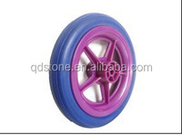 8*1.25 PU wheel with spoke color for children bicycle