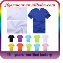 Wholesale Custom 100 % polyester blank sublimation t shirts, white t shirts polyester election, 1 dollar white t shirts