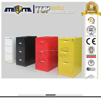 gray mini metal 3 drawer vertical file cabinet