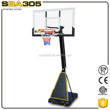 modern portable basketball system with offical basketball rim size