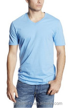 OEM v neck round neck t shirt custom design from garment factory