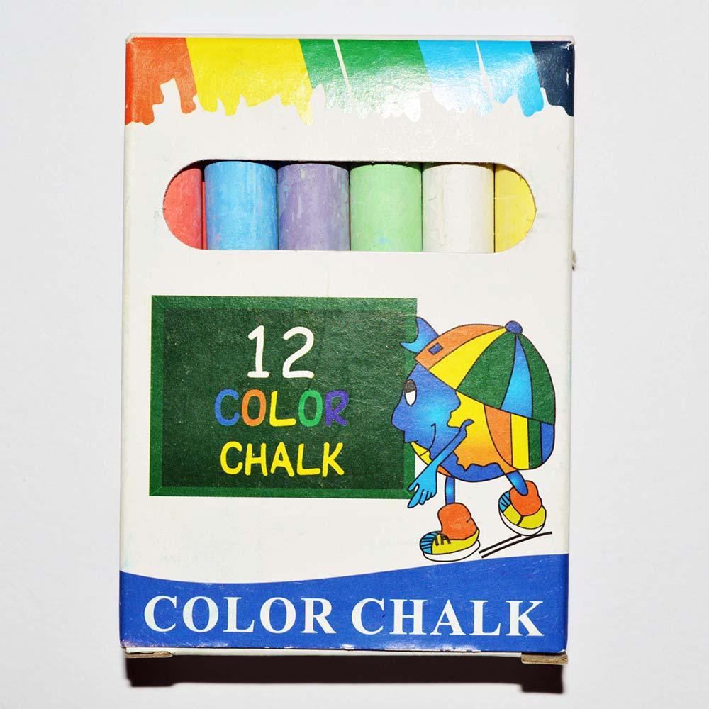 12 шт. упаковка школьной доске белый цвет мел