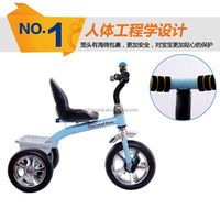 2015 hot sale colorful cheap plastic baby kids Tricycle with back seat/kids toy
