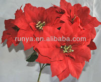 red artificial flower poinsettia