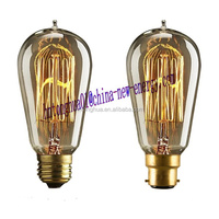 ST58 squirrel cage carbon filament bulbs 40W