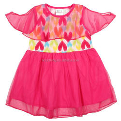 H3972P pink 3\/8Y Child clothing wholesale girl tutu dresses lace tunic top baby frocks designs dress