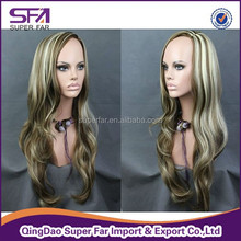 synthetic wig, hair wig, ombre kanekalon synthetic hair wig