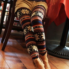 Knitted Colorful Crystal Pattern Always Leggings For Women Girl Tights Pants Leggings Girls Pics