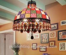 murano lámpara de acrílico con piezas de cristal de limpieza