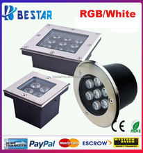 Blue underground LED Light 3W , Green LED underground Lights3Watt , Red underground LED Lamp 3W
