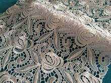 new design water soluble embroidery for wedding and evening dress
