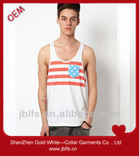 men's hot muscle stripe race back vest