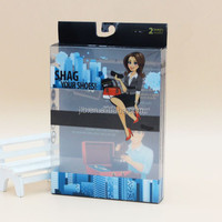 Wholesale Gift Plastic Clear folding carton box with hanger tab