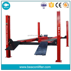 CE-Approved 5500kg 4 post car lift,used hydraulic car lift low price for sale