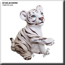 "6"" ceramic tiger figurine"