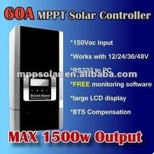 60A 12V 24v 48v 1500w solar panel charge controller MPPT solar charge controller