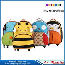 Custom child book bag with logo, new printing kids school trolley bag