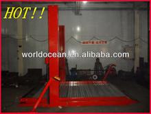 Two post car used hydraulic elevator