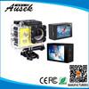 Smallest full hd 1080p 12 mega pixels waterproof action camera for motorcycle helmet, bicycle helmet, bike helmet