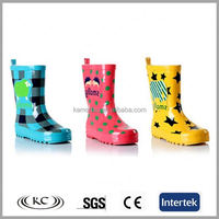 italy best selling blue plaid wellies
