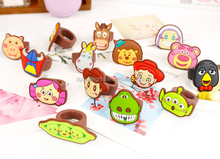 Wholesale personalized cartoon kids rings silicon souvenir finger rings
