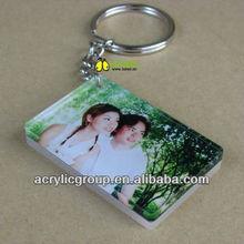 Manufacturer supplies elegant acrylic photo frame key chains