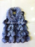 Real Fox Fur Vest Women