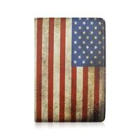United States Flag PU Leather Tablet Case For Amazon Kindle Fire 8.9 inch That Can Fold Stand , 360 Rotate PC Cover