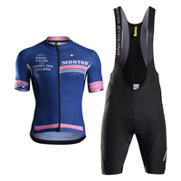 Monton Summer Cycling Jersey Set Wholesale Custom Sportswear Compression Wear