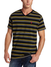 V-neck t-shirt Aanti-wrinkle cotton t-shirt printing machine prices in india