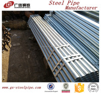 High quality!!galvanized steel square tube with one thread end and plastic cap