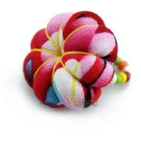 Folk style of fashion pure handmade cloth Mini pumpkin ring