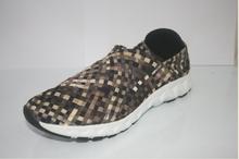 2015 novo design casual tecido elástico sapatos masculinos