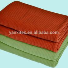 Vendedores calientes mantas de lana de poliéster 100 manta polar con tiras