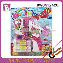 B/s plástico automática cheia de peixe bolha arma brinquedos, peixe bolha arma brinquedos com luz e música