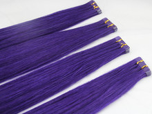 Real girl pussy hair ,China Manufacture high quality braid weft of purple hair weft