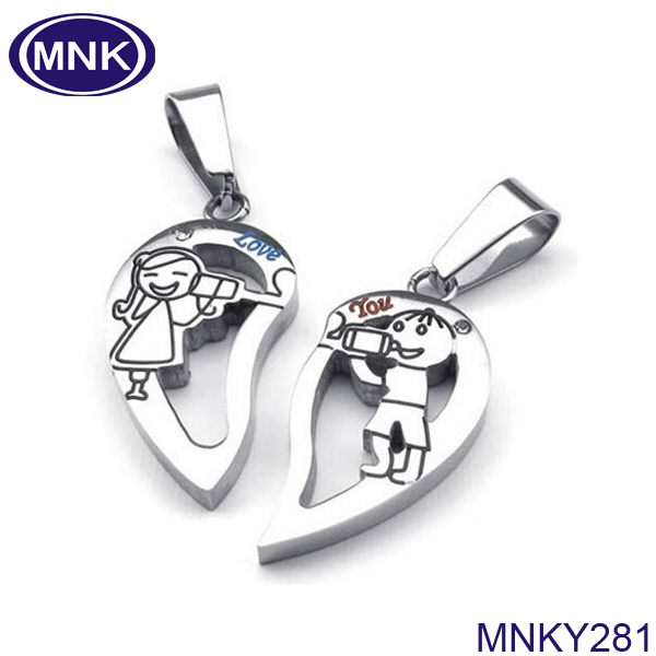 Broken Heart Pendant Couples Couple Broken Heart