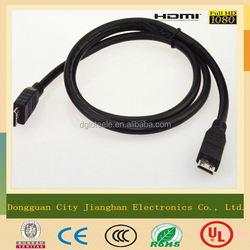 Braid shielding mini HDMI to rca cable