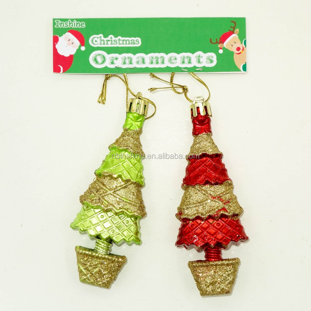 Christmas tree shape hanging ornaments christmas decorations christmas holiday gift buy tree - Hanging christmas ornaments ...
