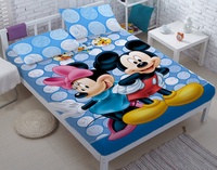 100%cotton DIY Mickey bed sets for adult children bed linen with duvet cover/bed sheets kids bedding king twin queen size