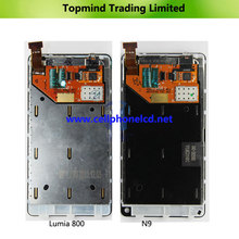 Original LCD Assembly lcd Screen Replacment For Nokia N9 With Matel Frame In Stock