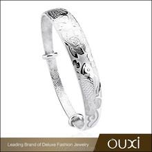 OUXI fashion eternity silver cuff bracelet for man y90003