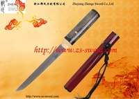 handmade tanto knife folded steel sword